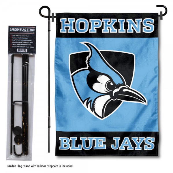 Johns Hopkins Blue Jays Garden Flag and Yard Pole Holder Set