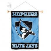 Johns Hopkins Blue Jays Window Hanging Banner with Suction Cup