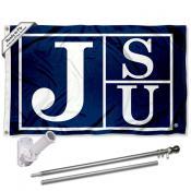 JSU Tigers Flag and Bracket Mount Flagpole Set