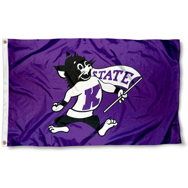 K State Vintage Wildcat Flag