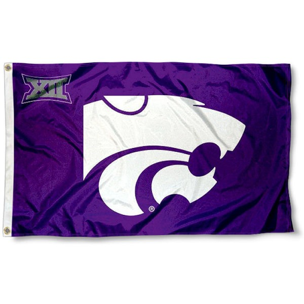 K-State Wildcats Big 12 Flag