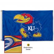 Kansas Jayhawks Appliqued Nylon Flag