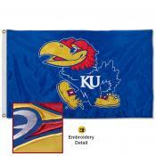 Kansas Jayhawks Appliqued Nylon Flag