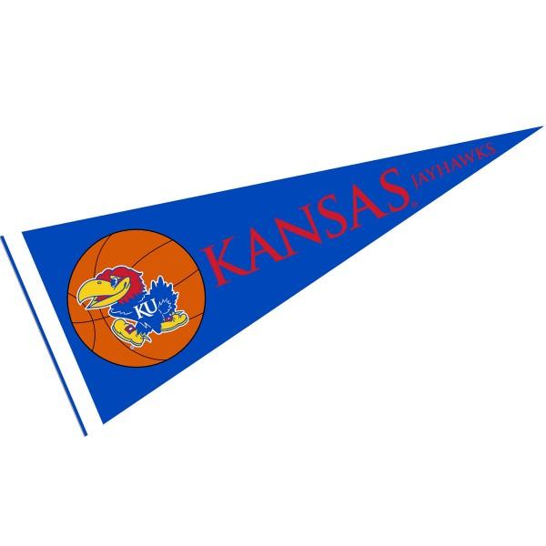 Kansas Jayhawks Basketball Pennant