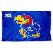 Kansas Jayhawks Big 12 Flag