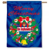 Kansas Jayhawks Holiday Flag