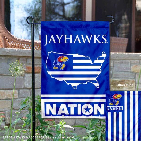 Kansas Jayhawks Nation Garden Flag