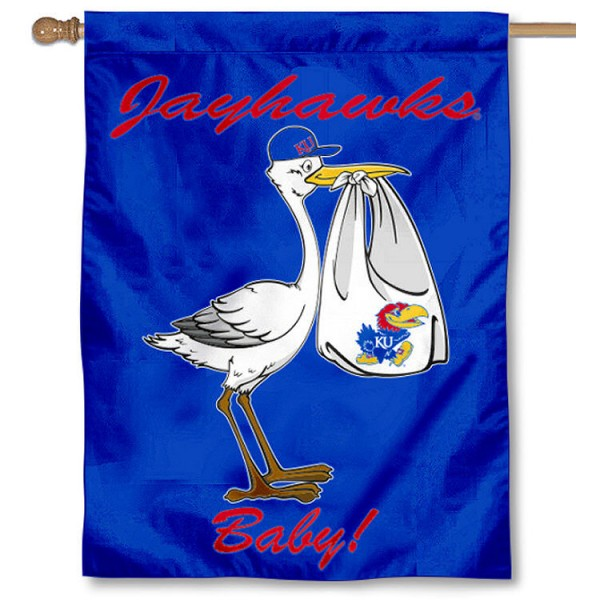 Kansas Jayhawks New Baby Banner