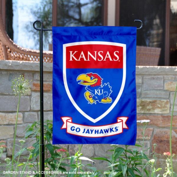 Kansas Jayhawks Shield Garden Banner