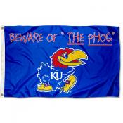 Kansas Jayhawks The PHOG Foot Flag