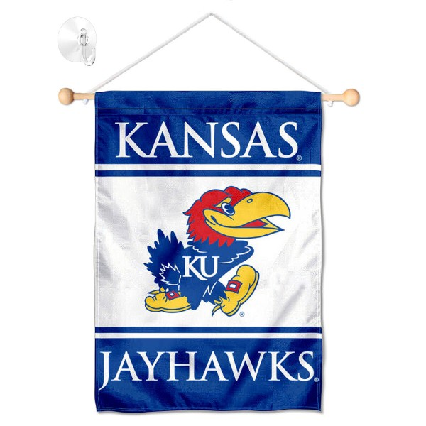 Kansas Jayhawks Window Hanging Banner with Suction Cup