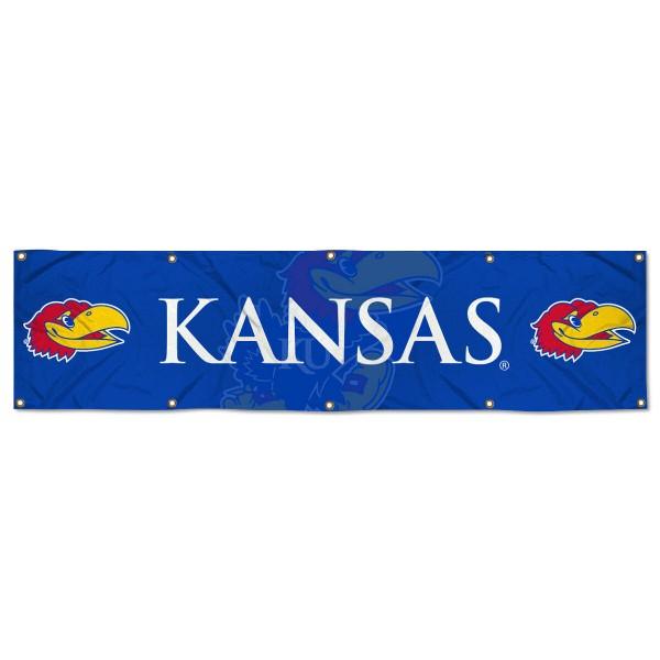 Kansas KU Jayhawks 2x8 Banner