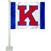 Kansas KU Jayhawks Big K Car Flag