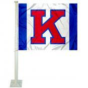 Kansas KU Jayhawks Big K Car Flag