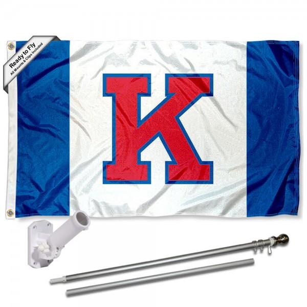 Kansas KU Jayhawks Flag and Bracket Flagpole Kit