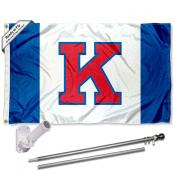 Kansas KU Jayhawks Flag and Bracket Flagpole Kit