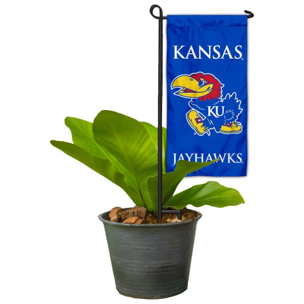 Kansas KU Jayhawks Mini Garden Flag and Table Topper