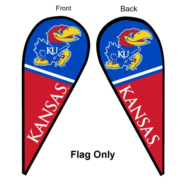 Kansas KU Jayhawks Teardrop Flag