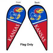 Kansas KU Jayhawks Teardrop Flag
