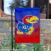 Kansas KU Jayhawks Two Tone Garden Banner