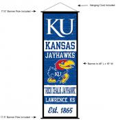 Kansas KU Jayhawks Wall Banner and Door Scroll