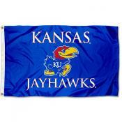 Kansas KU Jayhawks Wordmark Outdoor Flag