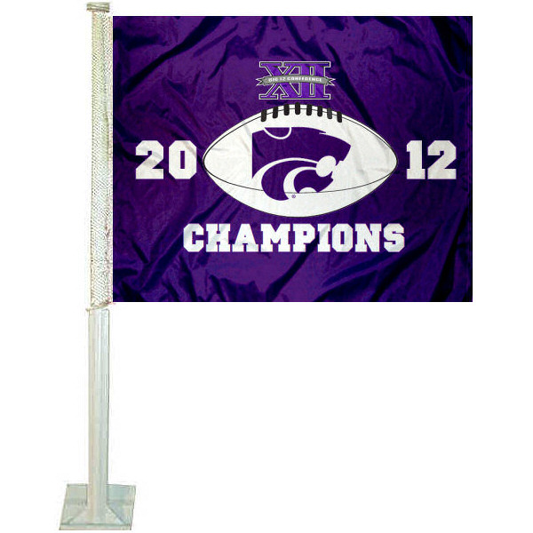 Kansas State 2012 Big 12 Champs Car Flag