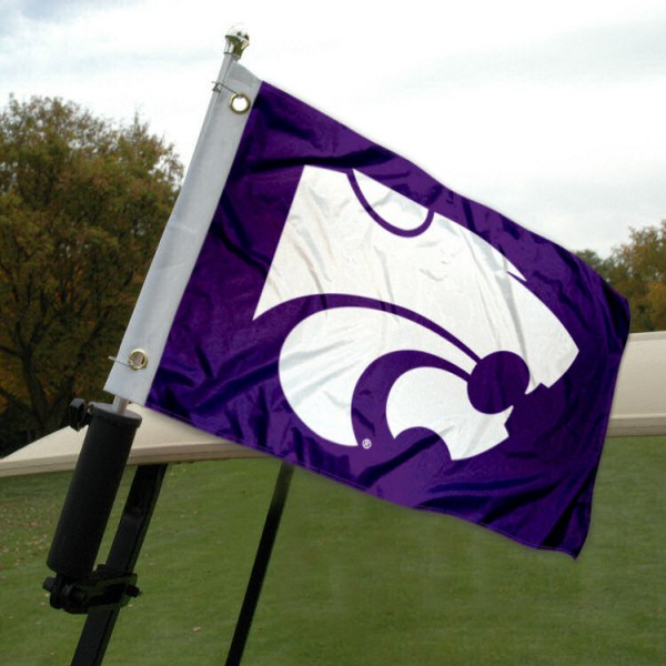 Kansas State University Golf Cart Flag