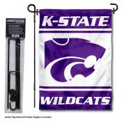 Kansas State Wildcats Garden Flag and Holder