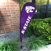 Kansas State Wildcats Mini Teardrop Garden Flag