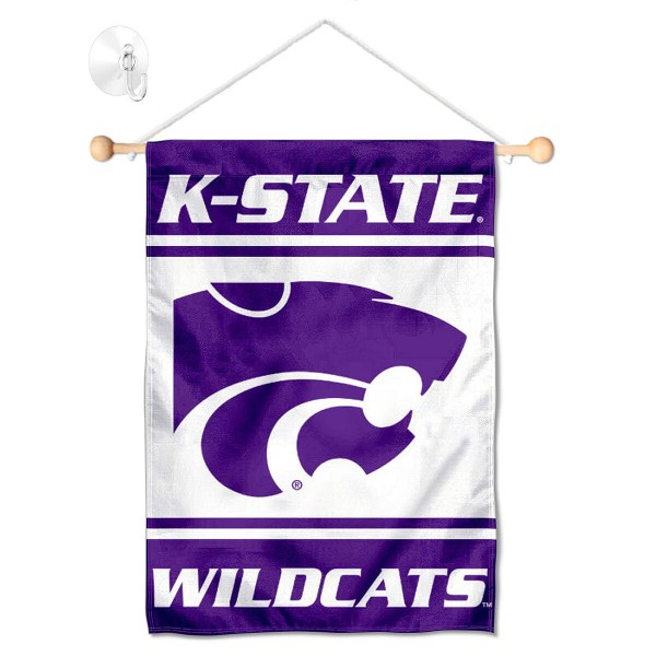 Kansas State Wildcats Window Hanging Banner with Suction Cup