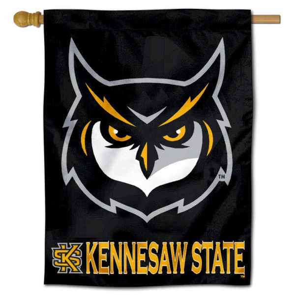 Kennesaw State KSU Owls House Flag