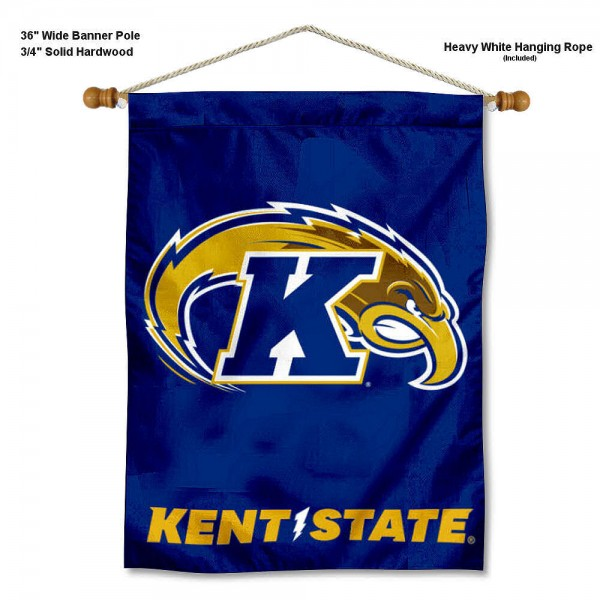 Kent State Golden Flashes Banner with Pole