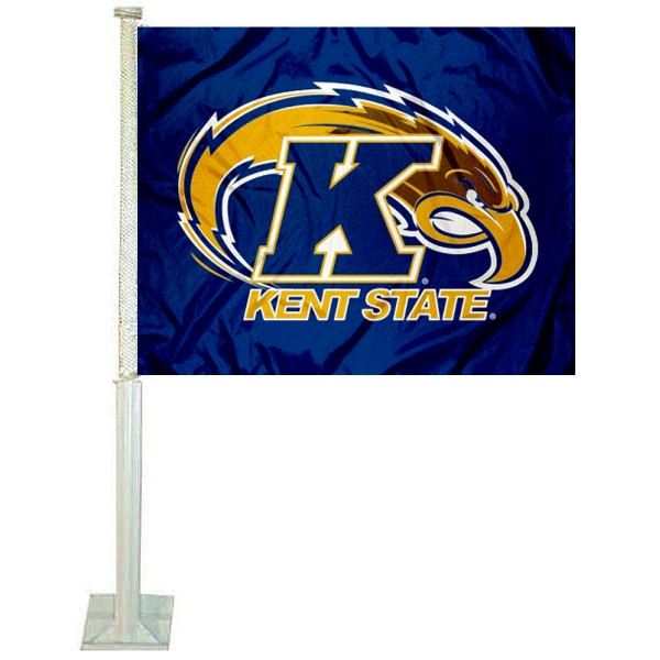 Kent State Golden Flashes Car Flag
