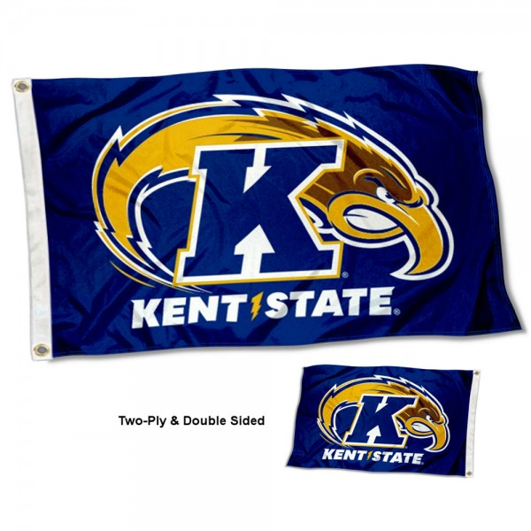 Kent State Golden Flashes Two Sided 3x5 Foot Flag