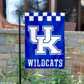 Kentucky UK Wildcats Checkerboard Garden Banner