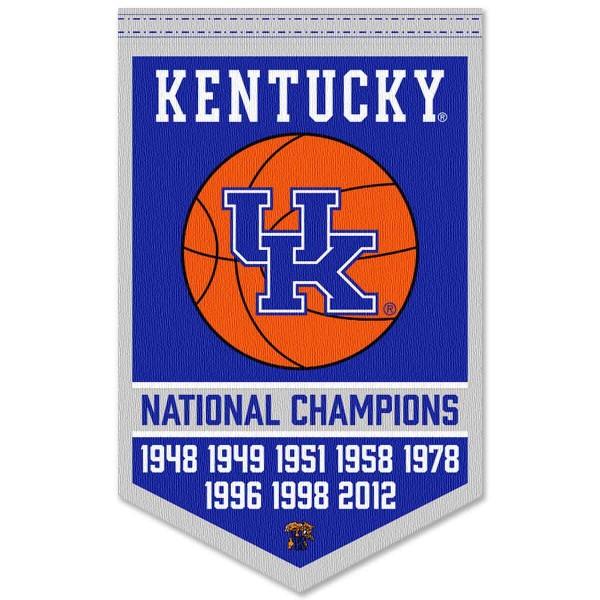 Kentucky UK Wildcats College Basketball National Champions Banner