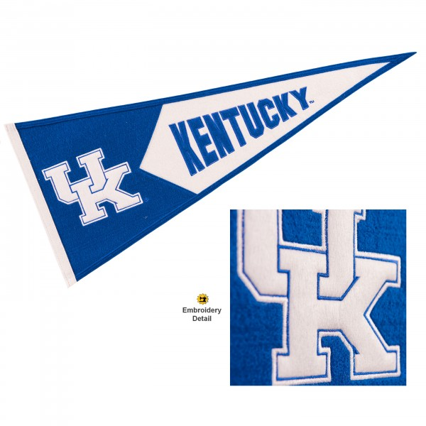 Kentucky UK Wildcats Embroidered Wool Pennant