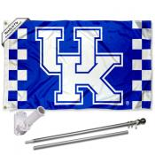 Kentucky UK Wildcats Flag and Bracket Flagpole Kit