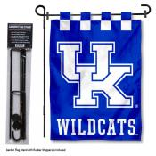Kentucky UK Wildcats Garden Flag and Holder