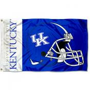 Kentucky UK Wildcats Helmet Flag