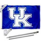 Kentucky UK Wildcats New Logo Flag and Bracket Flagpole Kit