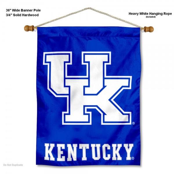 Kentucky UK Wildcats New UK Banner with Pole
