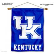 Kentucky UK Wildcats New UK Banner with Pole
