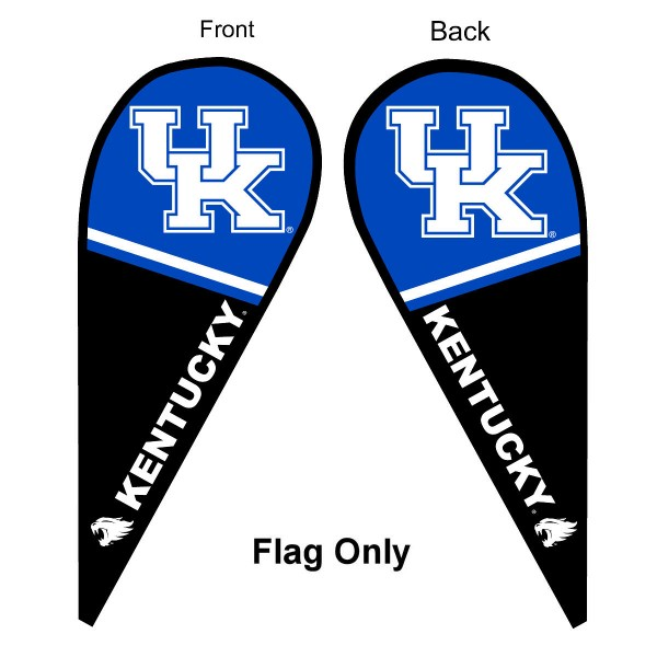 Kentucky UK Wildcats Teardrop Flag
