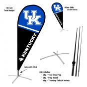Kentucky UK Wildcats Teardrop Flag and Stand Kit