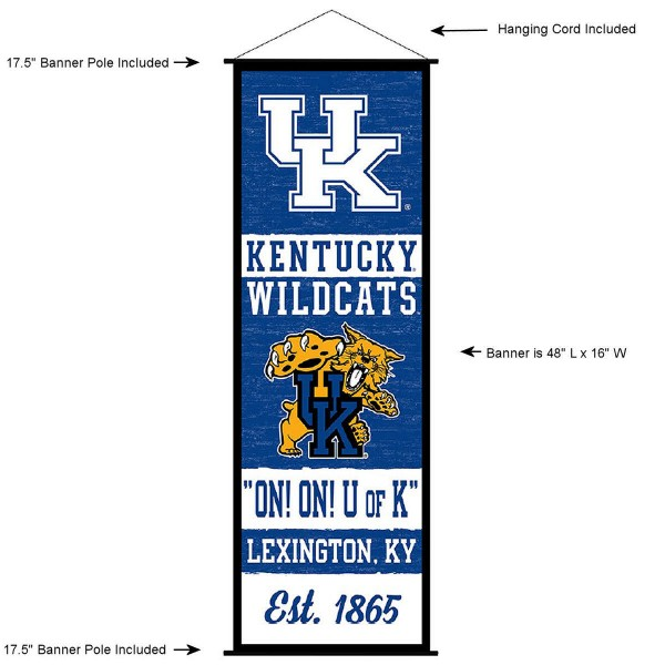 Kentucky UK Wildcats Wall Banner and Door Scroll
