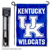 Kentucky UK Wildcats Wordmark Garden Flag and Holder