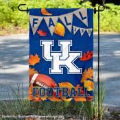 Kentucky Wildcats Fall Leaves Football Double Sided Garden Banner