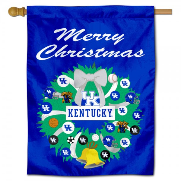 Kentucky Wildcats Holiday House Flag